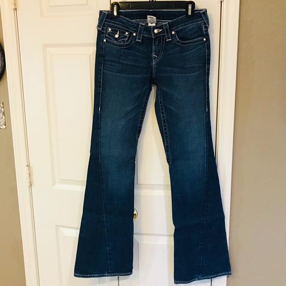 True Religion Denim - True religion pearl buttons wide leg jeans